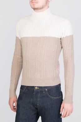 Бежевый свитер с узорами Colombo 2375183666