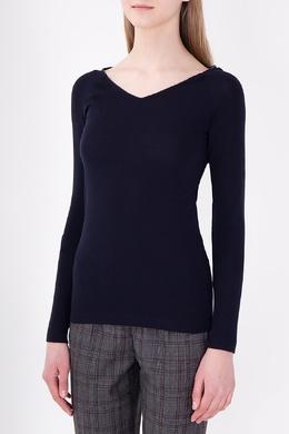 Темно-синий облегающий пуловер Brunello Cucinelli 1675183710