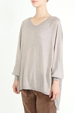 Удлиненный бежевый пуловер Brunello Cucinelli 1675183641
