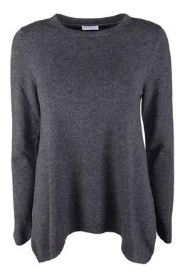 Серый трикотажный пуловер с длинными рукавами Brunello Cucinelli 1675183701