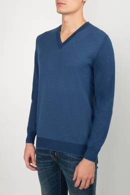 Синий пуловер с вырезом Svevo 1982183677