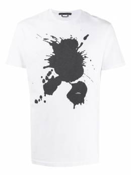 Daniele Alessandrini футболка с эффектом разбрызганной краски M7204E6434001
