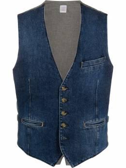 Eleventy denim panelled waistcoat A70GILA04TES0A118