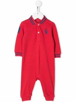 Ralph Lauren Kids комбинезон для новорожденного с вышитым логотипом 320702711