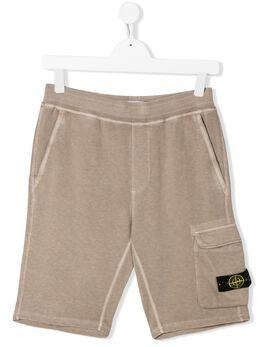 Stone Island Junior шорты с карманами MO721660541