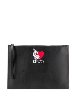 Kenzo logo-embossed clutch FA55PM902LP6