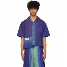 Keenkee Purple Gradient Panel Short Sleeve Shirt SS20WS09-PP-3