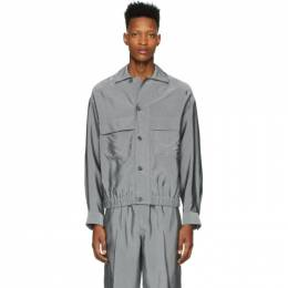 3.1 Phillip Lim Grey Blouson Shirt Jacket S202-2640VTSM