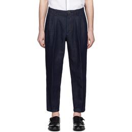 Giorgio Armani Indigo Classic Trousers 3HSP67 SDS7Z UBSG