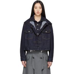 Sacai Blue Denim Double-Layer Jacket 20-04925