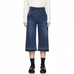 Sacai Blue Cropped Wrap Jeans 20-04929
