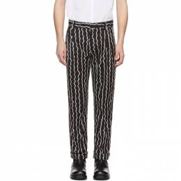 Charles Jeffrey Loverboy Black Woven Squiggle Trousers CJLSS20SFT
