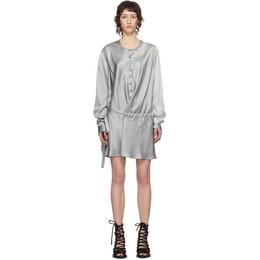 Ann Demeulemeester SSENSE Exclusive Grey Silk Belted Shirt Dress 1901-3608-A-105-050