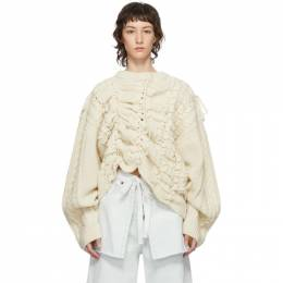 Y / Project Beige Lace-Up Sweater MPULL43-S18
