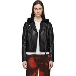 Mackage Black Leather Yoana Jacket YOANA R