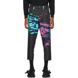 Fumito Ganryu Black and Multicolor Kurta Trousers FU3-PA-07