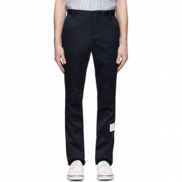 Thom Browne Navy Unconstructed Chino Trousers MTU187A-03788