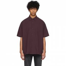 Acne Studios Burgundy Shepton Short Sleeve Shirt BB0211