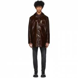 Acne Studios Brown Lambskin Loper Jacket B70055