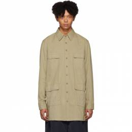Random Identities Beige Military Shirt Coat SH-19