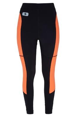 Черные леггинсы с оранжевыми вставками Alexander Wang 368113707