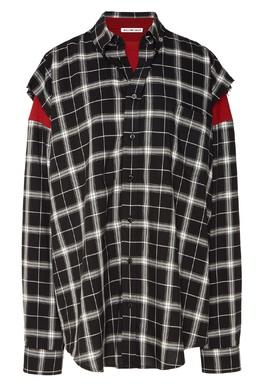 Комбинированная клетчатая рубашка Balenciaga 397111204