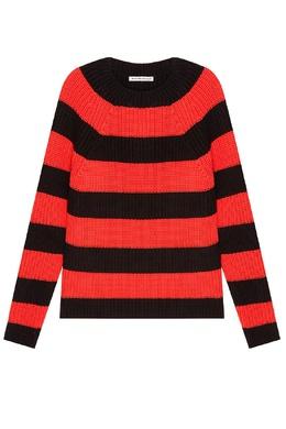 Черно-красный полосатый джемпер Alexander Wang 368104515