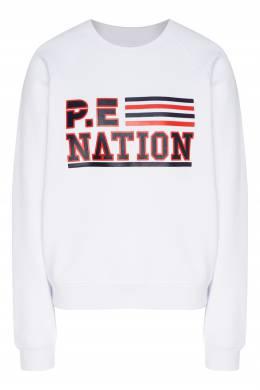 Белый свитшот с рукавами-реглан P.E Nation 2080114108