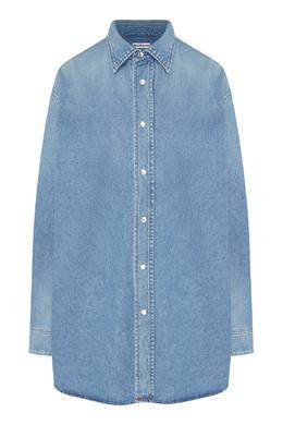 Джинсовая рубашка свободного покроя Balenciaga 397119337