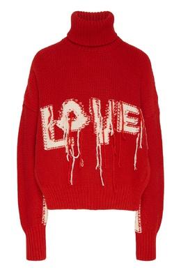 """Красный свитер с надписью """"Love"""" Moncler 34116600"""