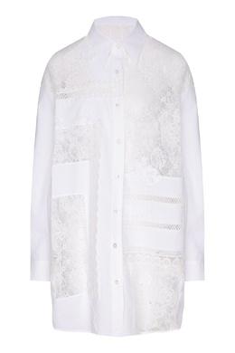 Поплиновая рубашка с кружевом Flora Golden Goose 1690128302
