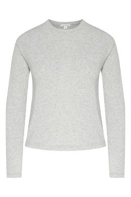 Серый меланжевый лонгслив James Perse 280181896