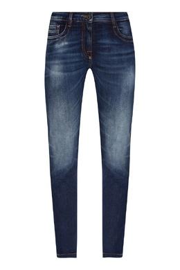 Прямые темно–синие джинсы Bikkembergs 1487183414
