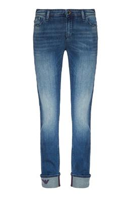 Синие джинсы с отворотами Emporio Armani 2706184013