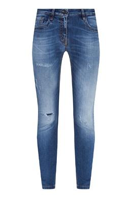 Голубые джинсы с декором Bikkembergs 1487183420