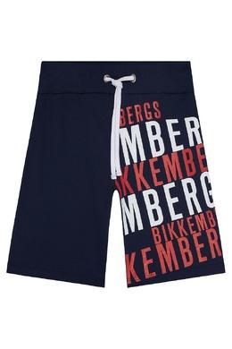 Синие шорты с надписью Bikkembergs 1487183507