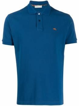 Etro рубашка-поло с вышитым логотипом 1Y1409240