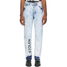 Stolen Girlfriends Club Blue Acid Stamp Jeans C4-19217