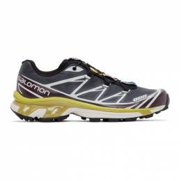 Salomon Grey and Purple Limited Edition XT-6 ADV Sneakers 410864