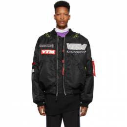 Vetements Black Alpha Industries Edition Motorcycle Bomber Jacket SS20JA255