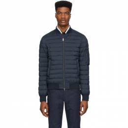 Herno Navy Down Matte Bomber Jacket PC003ULE 19288