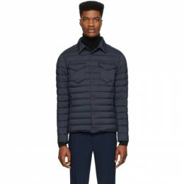 Herno Navy Nylon Matte Jacket PC004ULE 19288