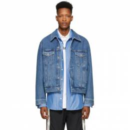 Vetements Blue Gothic Logo Denim Jacket SS20JA339