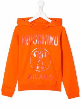 Moschino Kids TEEN shimmer-logo hooded sweatshirt HUF03JLCA15