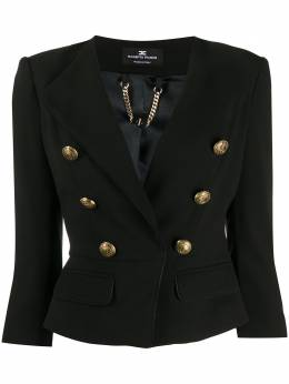 Elisabetta Franchi embossed button fitted jacket GI93601E2