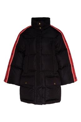 Куртка с контрастной отделкой на рукавах Gucci 470183848