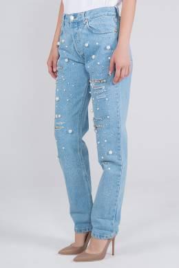 Голубые джинсы с декором Forte Couture 1528184080