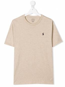 Ralph Lauren Kids футболка с вышитым логотипом 323703638