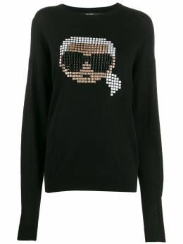Karl Lagerfeld свитер Karl с узором 201W2011999