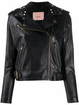 Twin-set studded biker jacket 201TP241A